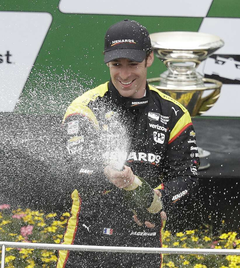 Simon Pagenaud leads IndyCar by 76 points. Photo: Darron Cummings, Associated Press