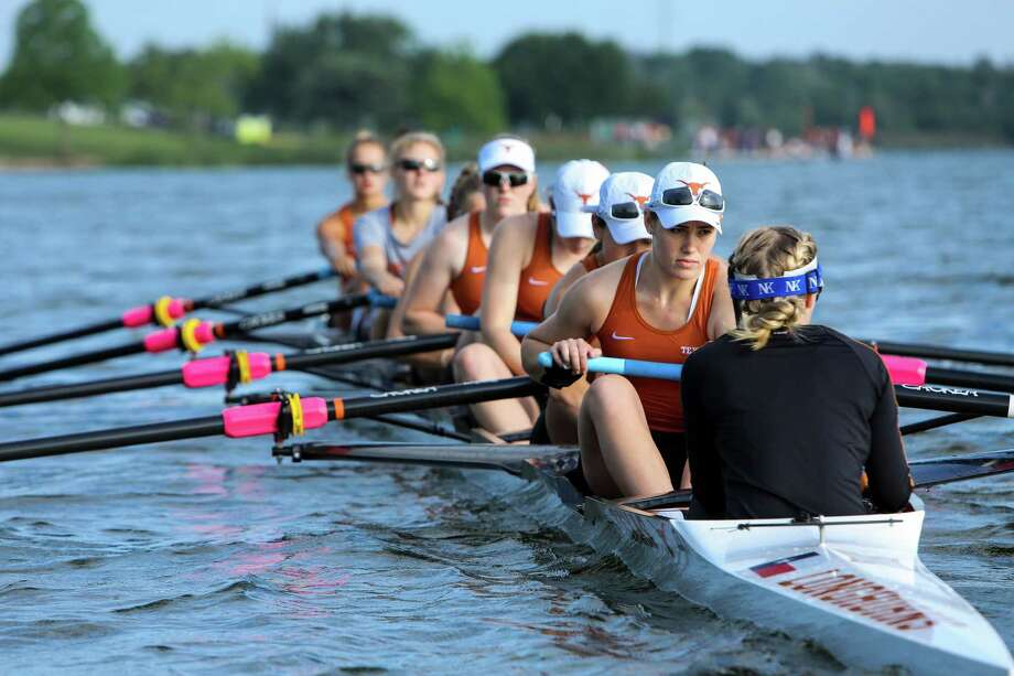 Texas rowers, who are competing for the Big 12 title this weekend, have a good chance to return to the NCAA championships for only the second time in school history. Photo: Spencer Selvidge, For The San Antonio Express-News / Spencer Selvidge For The San Antonio Express-News