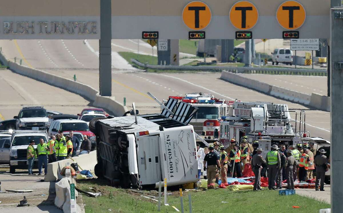 April 13, 2013: Three passengers died and more than 40 senior citizens were injured in a charter bus crash in Irving that was on its way to a casino in Oklahoma.