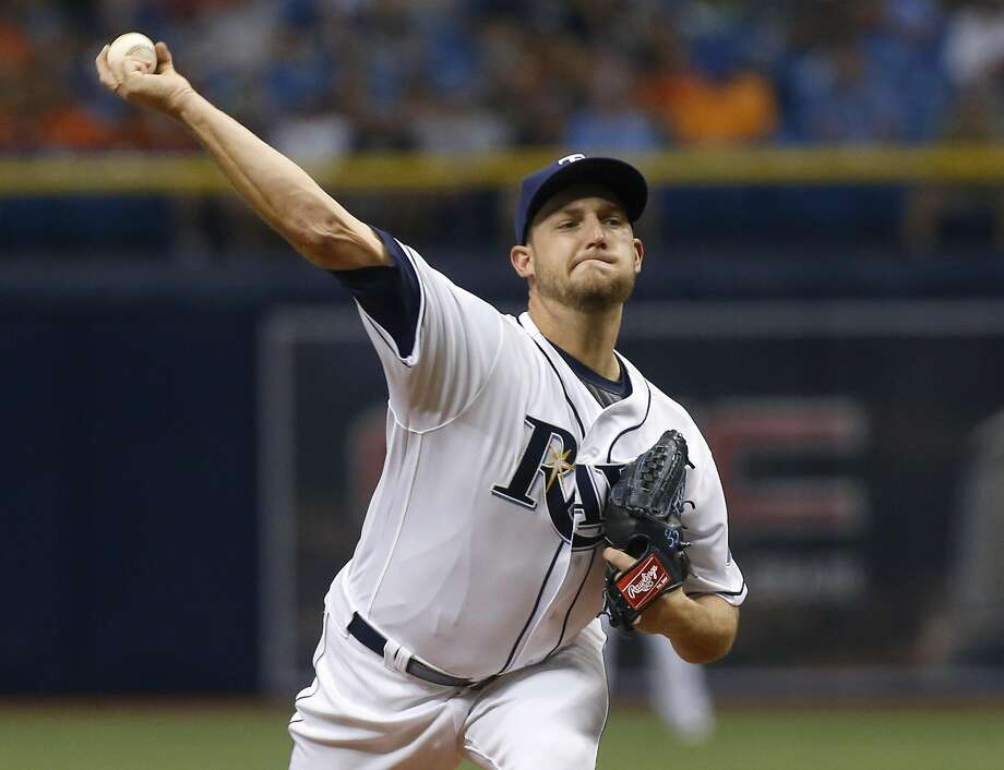 ST. PETERSBURG, FL - MAY 14:  Matt Andriese #35 of the Tampa Bay Rays pitches during the first  inning of a game against the Tampa Bay Rays on May 14, 2016 at Tropicana Field in St. Petersburg, Florida. (Photo by Brian Blanco/Getty Images) Photo: Brian Blanco, Getty Images