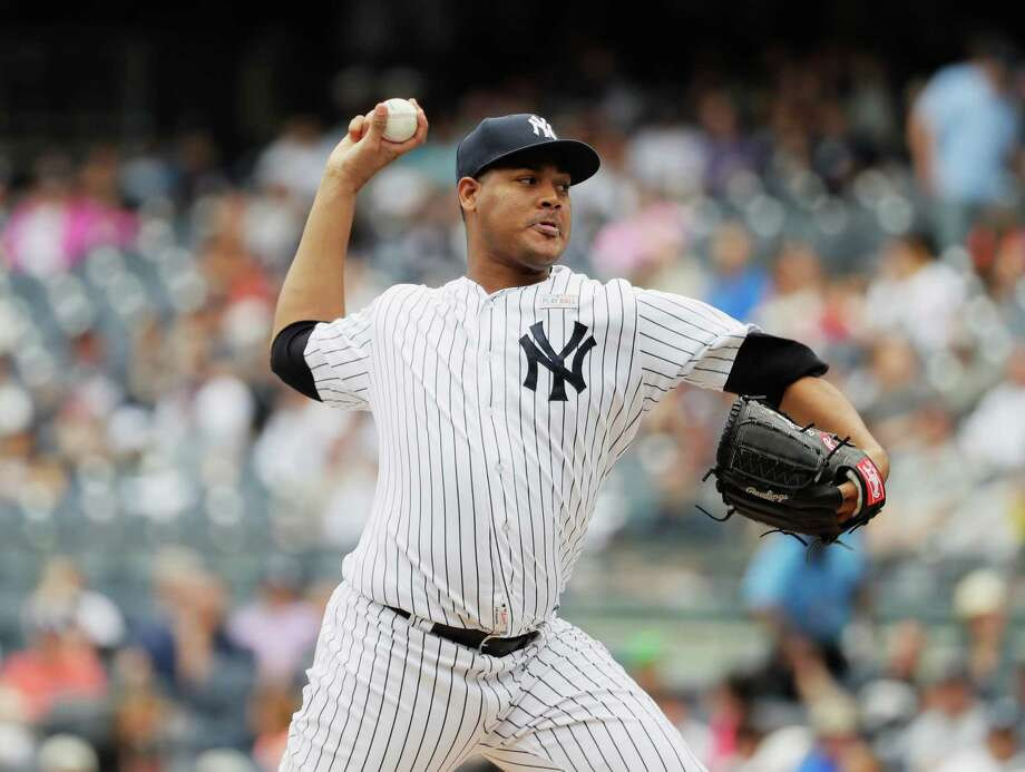 NEW YORK, NY - MAY 14:  Ivan Nova #47 of the New York Yankees pitches against the Chicago White Sox during their game at Yankee Stadium on May 14, 2016 in New York City.  (Photo by Al Bello/Getty Images) ORG XMIT: 607677597 Photo: Al Bello / 2016 Getty Images