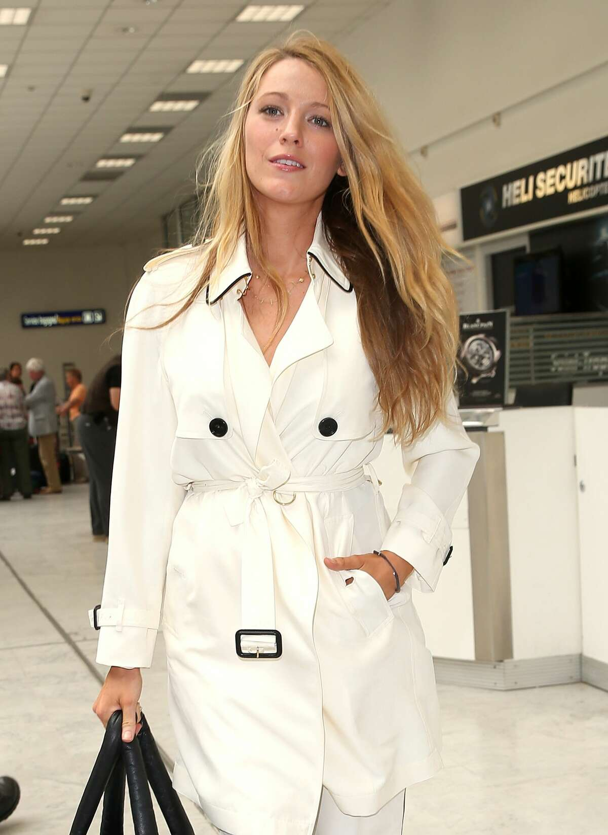 Blake Lively arrives at Nice airport.