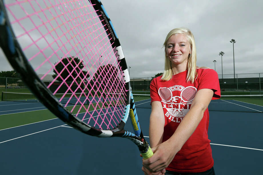 Fredericksburg's Hannah Boubel, who was the 2015 Express-News Girls Tennis Player of the Year, poses for a portrait on May 21, 2015, at the school. Photo: Edward A. Ornelas /San Antonio Express-News / © 2015 San Antonio Express-News