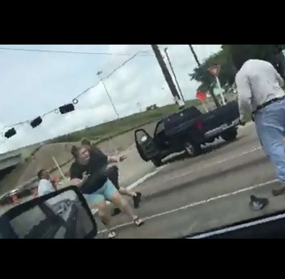 A street brawl caught on video Saturday in northwest Houston was a result of apparent road rage. Witnesses say the fight erupted after the driver of a truck did not want to let a car merge into traffic at Highway 6 near Interstate 290.
