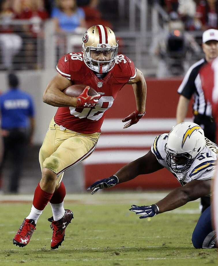 Jarryd Hayne was never able to duplicate his preseason success in the regular season and on Sunday opted to retire from the NFL to pursue a berth on this summer's Olympiuc Games in Brazil. Photo: Tony Avelar, Associated Press