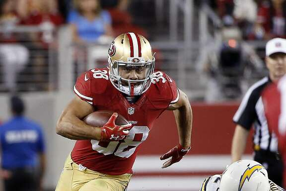 FILE - In this Sept. 3, 2016, file photo, San Francisco 49ers running back Jarryd Hayne (38) runs against the San Diego Chargers during the second half of an NFL preseason football game in Santa Clara, Calif. Former Australian Rugby League star Hayne�s NFL experiment is over, as he announced his retirement Sunday, May 15, 2016, from the 49ers in order to join the Fiji Rugby Sevens team for the Rio de Janeiro Olympics. (AP Photo/Tony Avelar, File)