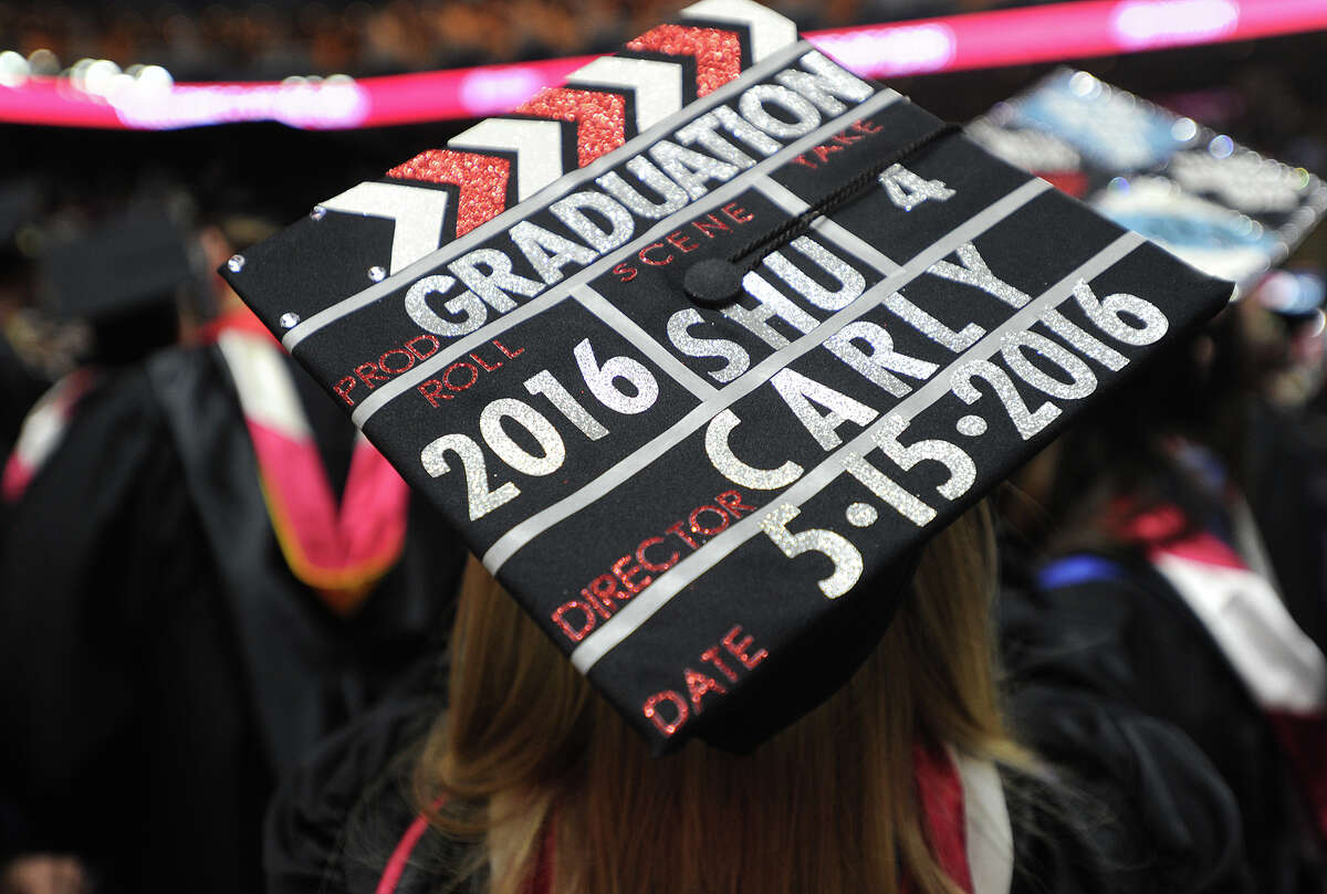 Sacred Heart University's graduation at the Webster Bank Arena in Bridgeport, Conn. on Sunday, May 15, 2016.