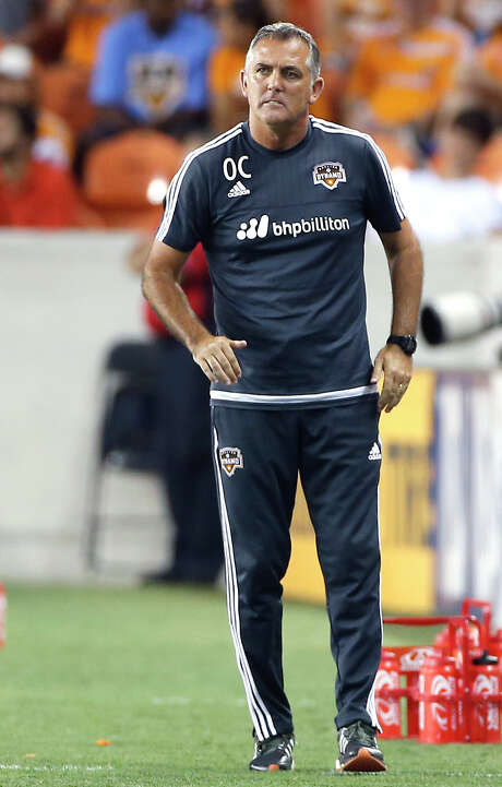 Houston Dynamo head coach Owen Coyle during the first half of MLS game action at BBVA Compass Stadium Saturday, Aug. 8, 2015, in Houston. Photo: James Nielsen, Houston Chronicle / © 2015  Houston Chronicle
