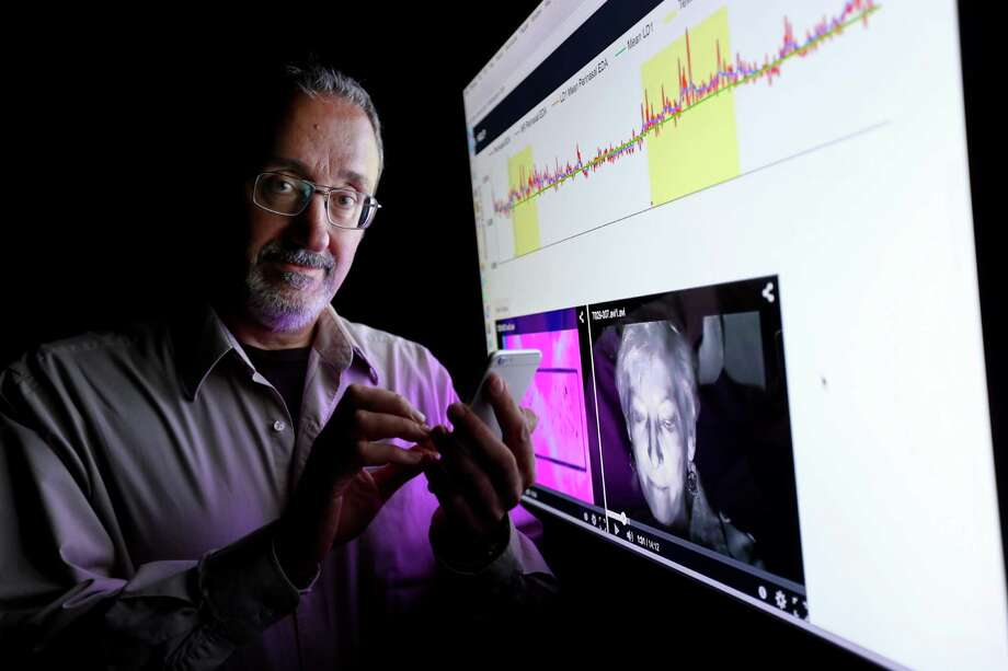 University of Houston computer science professor Ioannis Pavlidis, is among a handful of researchers studying how texting while driving causes an increase in stressors. Photo: Gary Coronado, Houston Chronicle / © 2015 Houston Chronicle