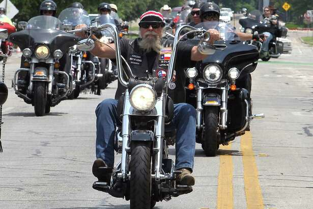 Motorcyclists ride Saturday to the McLennan County Courthouse to mark the May 17, 2015, Waco shootout.