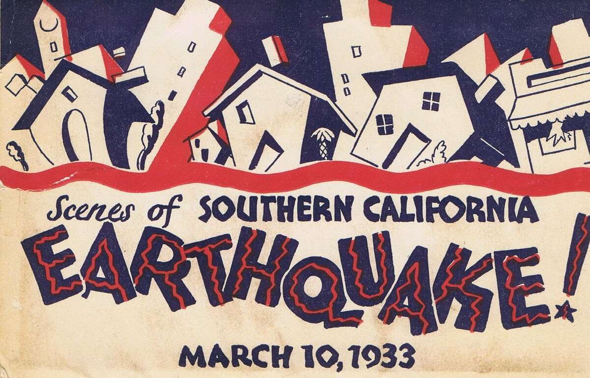 The following images are from a 1933 Los Angeles County earthquake souvenir brochure. The first 17 images are from this brochure. The images after that are from a private photo album created at the time of the earthquake.