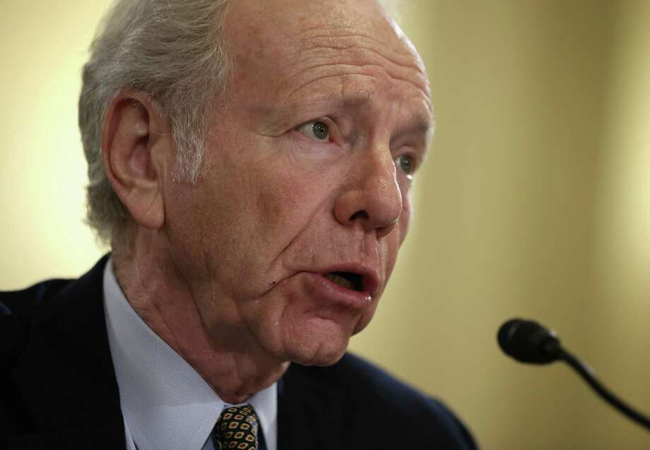 "Former U.S. Sen. Joseph Lieberman, I-Conn., testifies during a hearing before the House Homeland Security Committee in 2014 on Capitol Hill in Washington, DC. The committee held a hearing on ""A False Narrative Endangers the Homeland,"" focusing on the administration's narrative on the threat from al Qaeda. Photo: Getty Images / Alex Wong /Getty Images / 2014 Getty Images Connecticut Post Contributed  Alex Wong/Getty Images"
