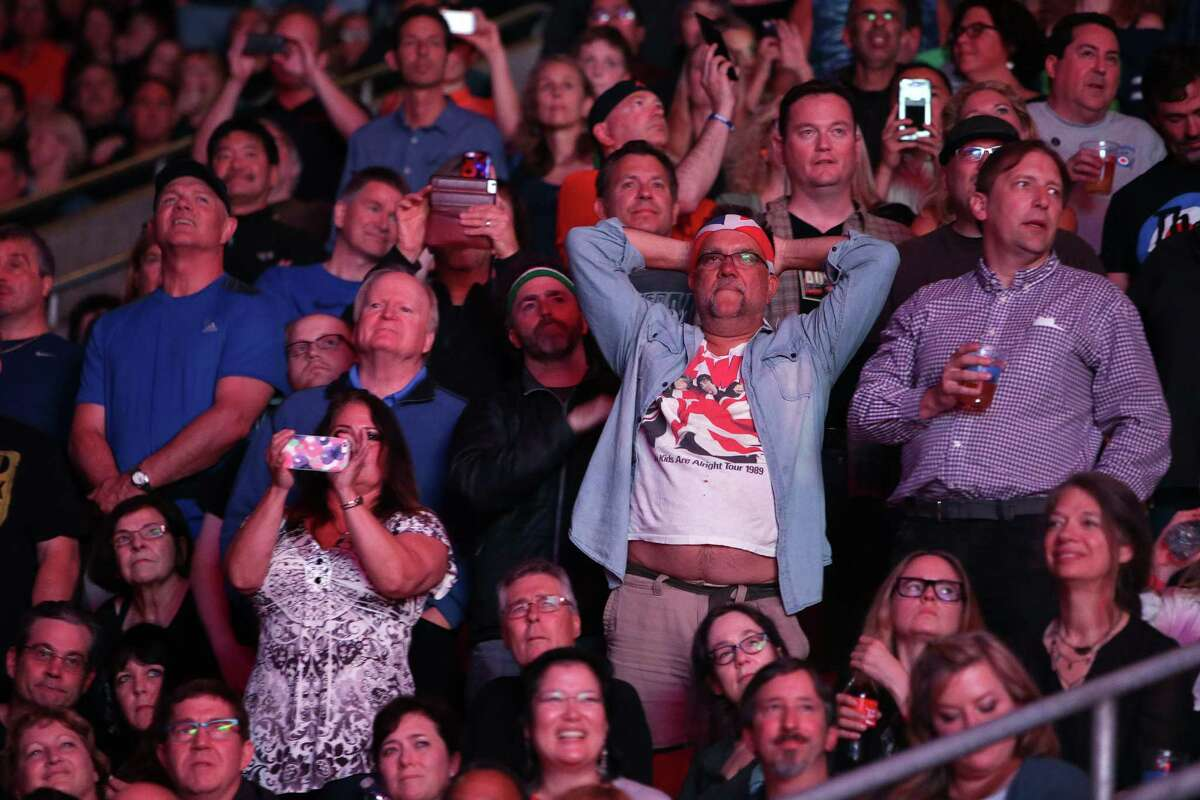 The crowd takes in the show as The Who performs at Key Arena, Sunday, May 15, 2016.