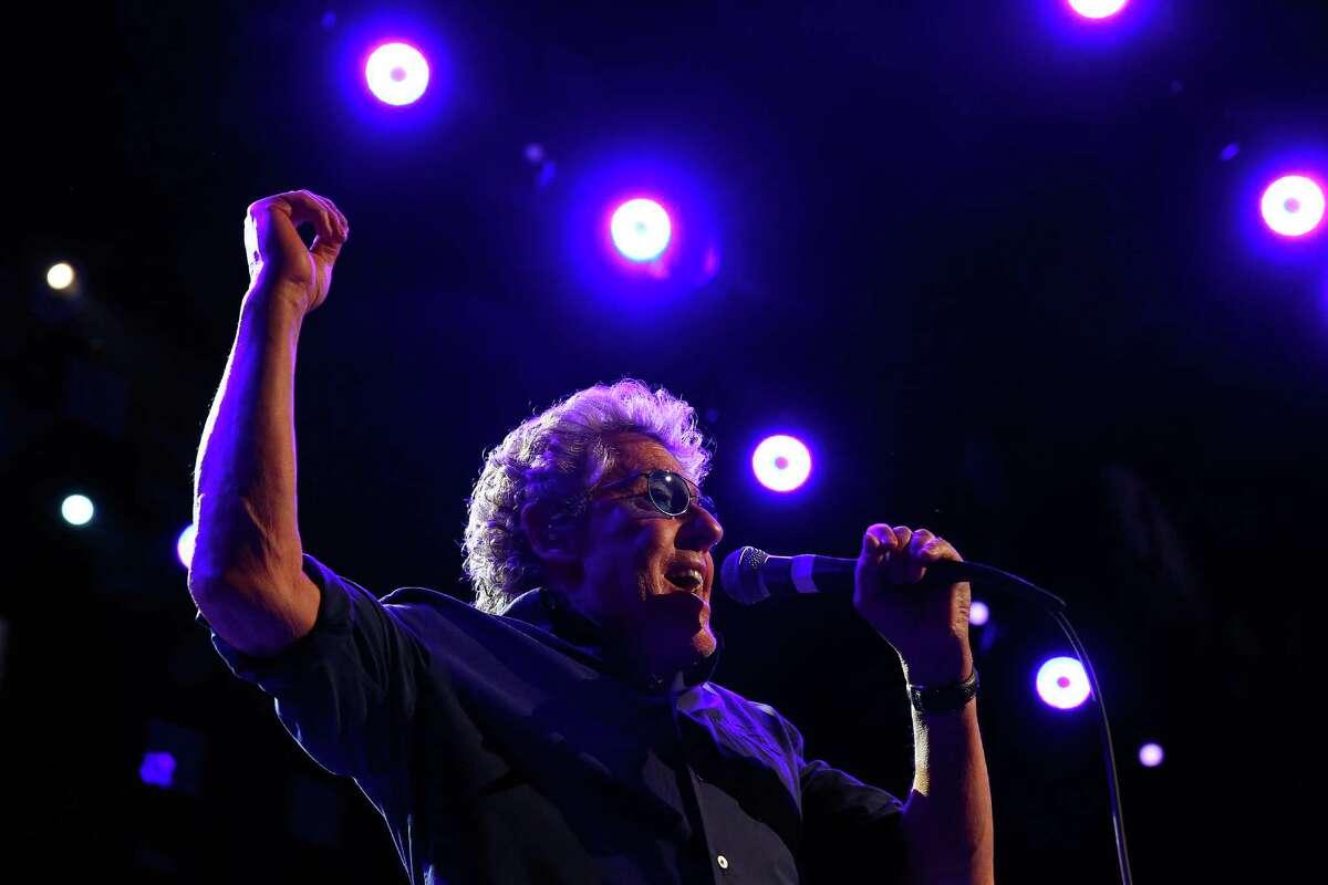 Roger Daltrey sings as The Who performs at Key Arena, Sunday, May 15, 2016.