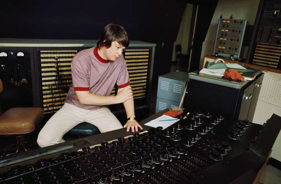 """The Beach Boys' Brian Wilson recording """"Pet Sounds"""" in 1966.>>Keep clicking to discover which was the most popular album the year you were born. Photo: Michael Ochs Archives/Getty Images"""