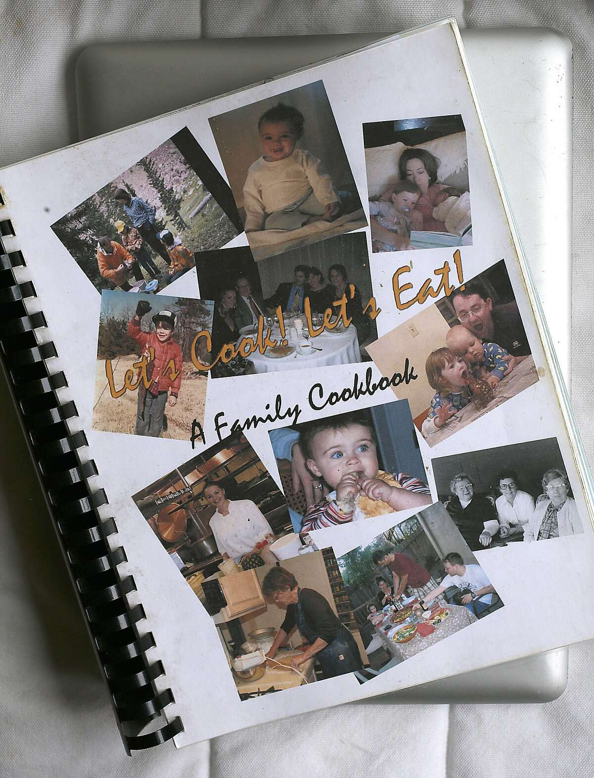 Sarah Rich's family cookbook seen at home in San Francisco, California, on thursday, may 12, 2016.