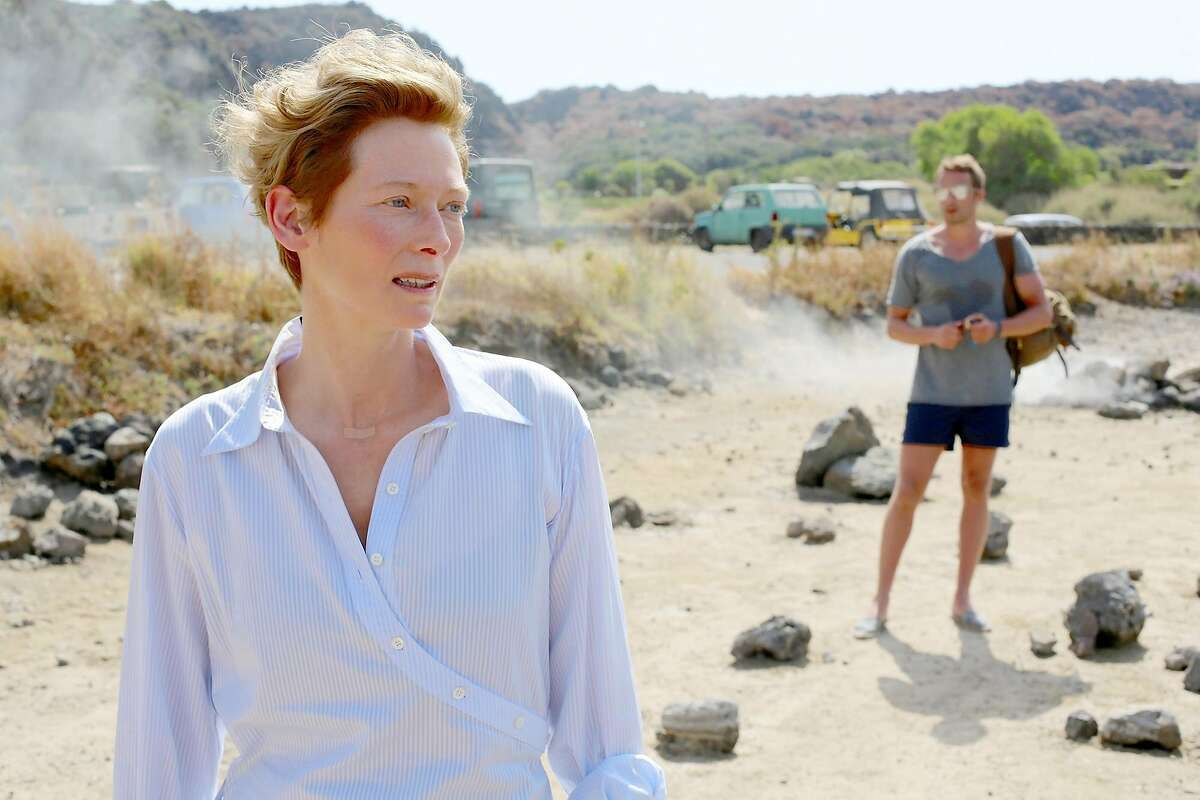 "Tilda Swinton and Matthias Schoenaerts in ""A Bigger Splash."" MUST CREDIT: Jack English, Fox Searchlight Pictures"