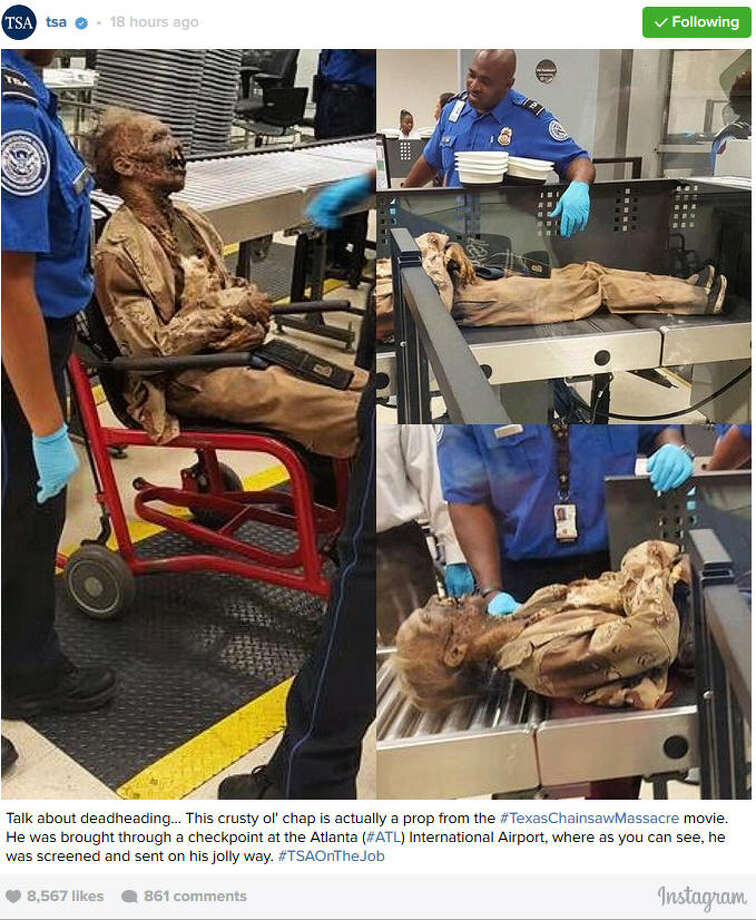 Creepy ghoul gets through TSA screening line in Atlanta