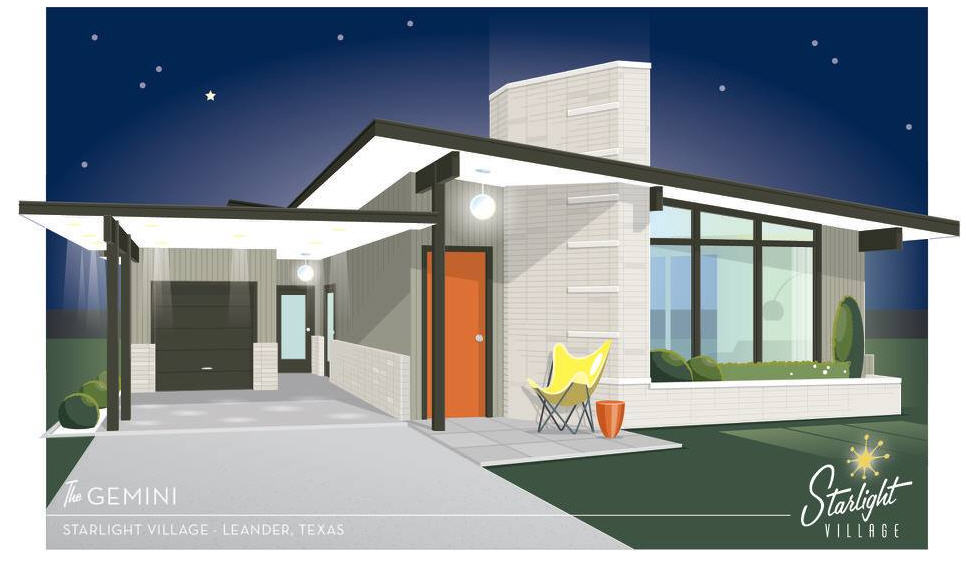 This Midcentury Modern Village Popping Up Near Austin Is A
