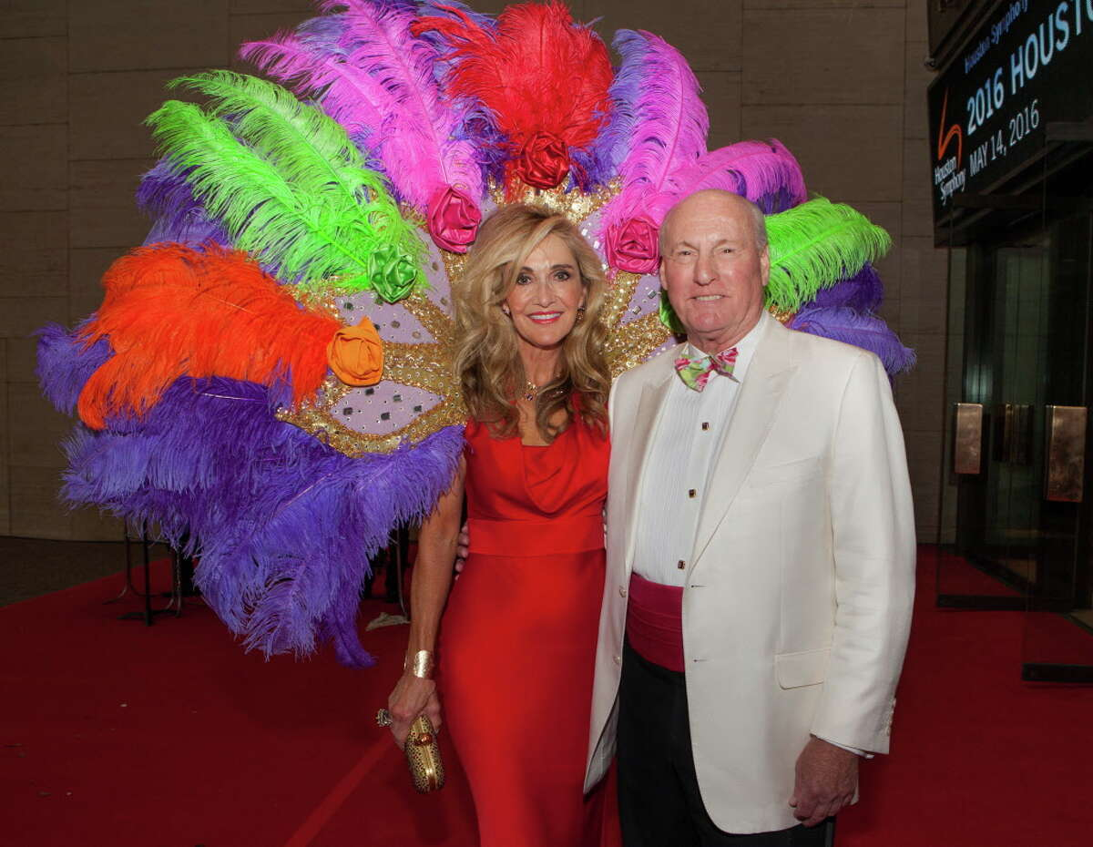 Jana and Scotty Arnoldy pose for a picture at the Houston Symphony Ball Saturday May 14, 2016 at Jones Hall.