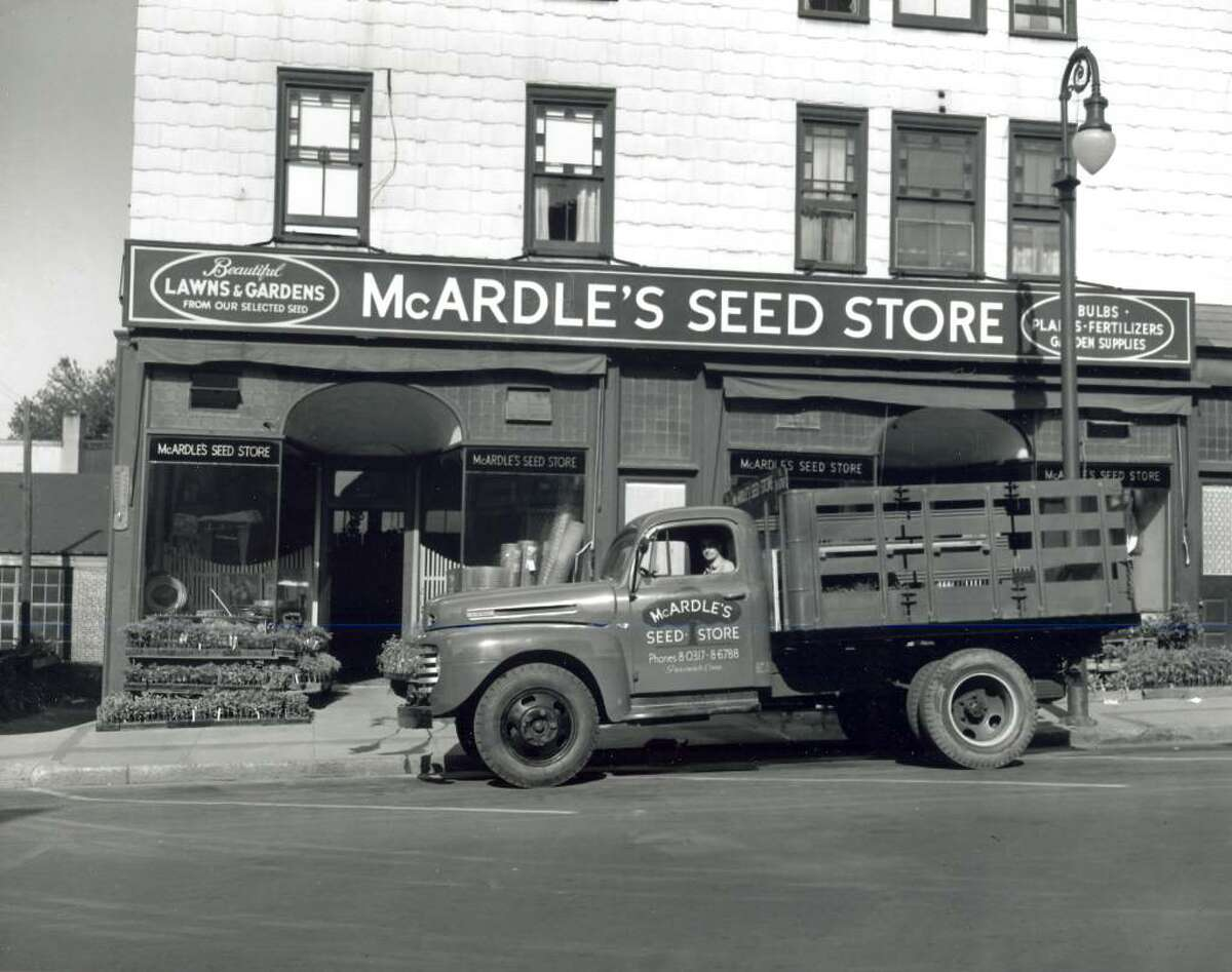 McArdle's, a florist and garden center on Arch Street, shown in an undated photo, marks 100 years in business this year. Photo courtesy of the Greenwich Historical Society.