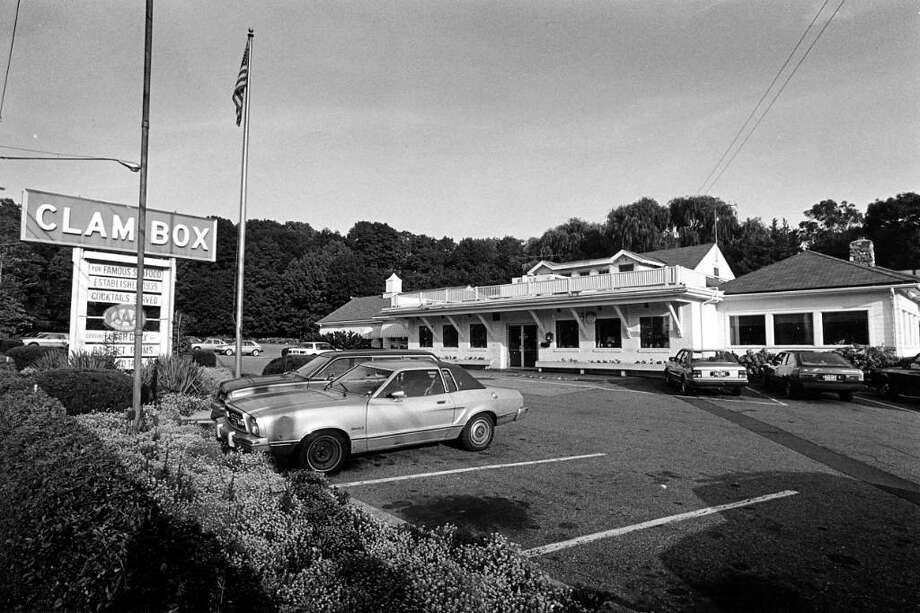 The Clam Box Restaurant, on the Post Road in Cos Cob, shown around the date of its closure in 1985. It opened in 1939. Photo: File Photo / Greenwich Time File Photo