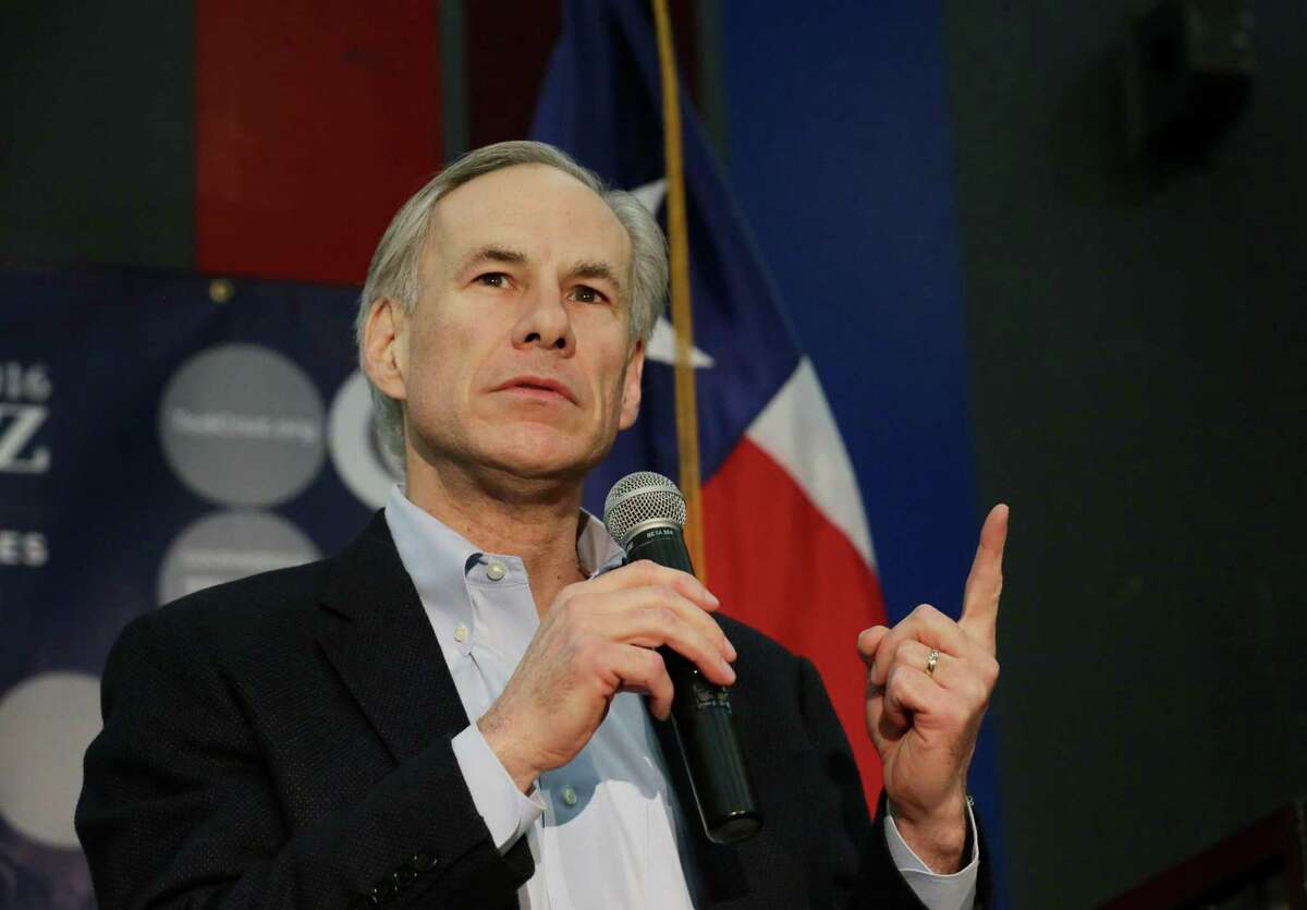 Gov. Gregg Abbott, shown here during a rally for Sen. Ted Cruz last year, is taken to task by a reader for cracking a joke about guns and reporters at a shooting range.