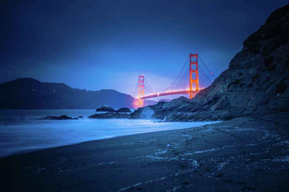 """It's worth a climb down the hill to Bakers Beach to take a look at the Golden Gate Bridge,"" shares photographer Johannes Öhl."