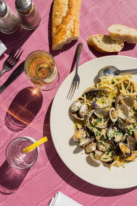 Fresh seafood dishes at the Sand Dollar in Stinson Beach include clams with fettuccine. Photo: Jason Henry, Jason Henry For Medium