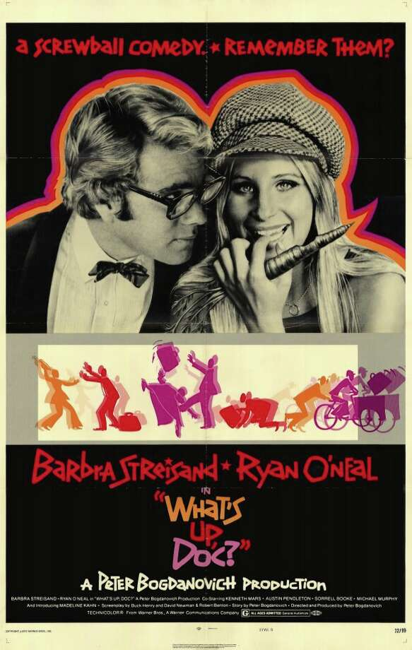 WHAT'S UP, DOC? (1972) - Peter Bogdanovich's near-flawless homage to and interpretation of the screwball comedies of the 30s and 40s. One of my early favorites from childhood. Endlessly funny. Barbra Streisand and even Ryan O'Neal are perfect. But maybe even better - and again echoing back to those older movies - the supporting cast of character actors is unparalleled:  Madeline Kahn, Kenneth Mars, Austin Pendleton, Michael Murphy, Sorrell Booke, John Hillerman, Graham Jarvis, Randy Quaid, M. Emmet Walsh, et al. Also, the San Francisco locations are fantastic.