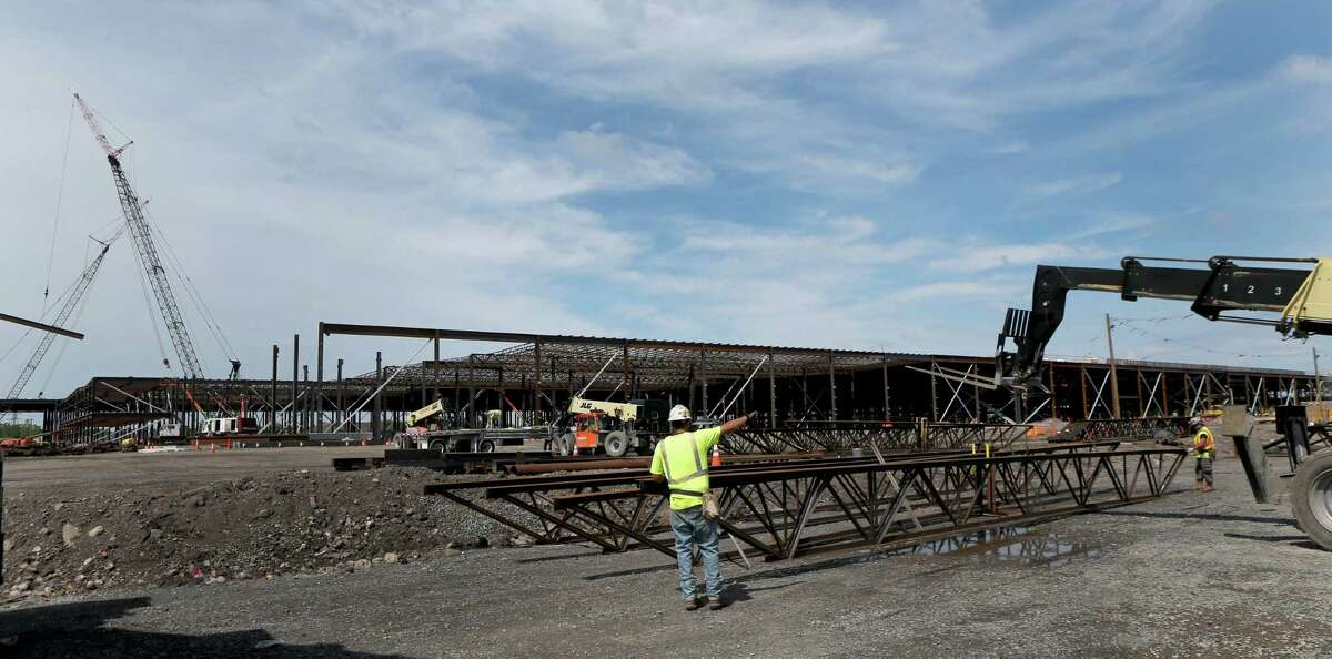 New York State plans to invest $500 million from the Buffalo Billion to establish infrastructure at the site and construct a 1.2 million square-foot SolarCity manufacturing facility June 17, 2015, in Buffalo, N.Y. (Max Schulte/Democrat and Chronicle)