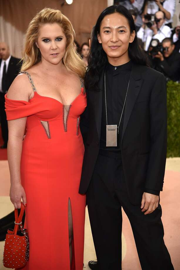 "Amy Schumer and Alexander Wang attend the ""Manus x Machina: Fashion In An Age Of Technology"" Costume Institute Gala at Metropolitan Museum of Art on May 2, 2016 in New York City. Photo: Dimitrios Kambouris, Getty Images"