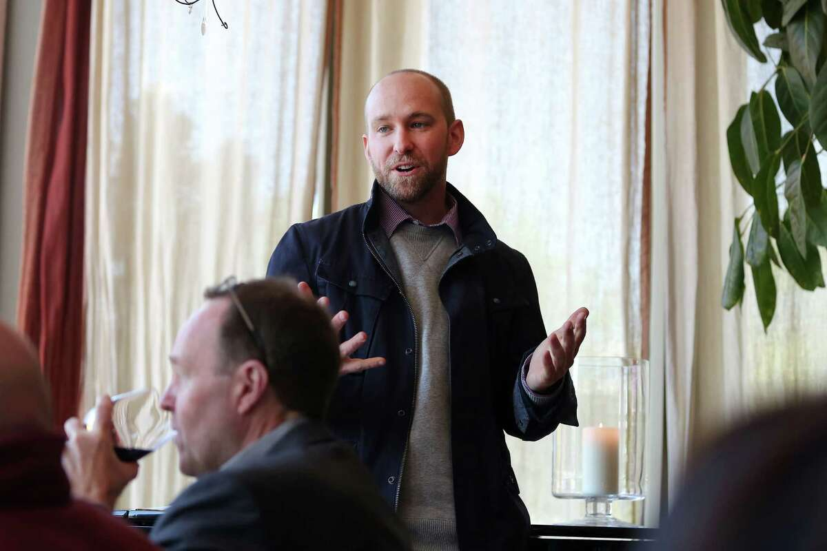 Winemaker Richie Allen, of Rombauer Vineyard, hosted a special luncheon at L'Escale restaurant in Greenwich.