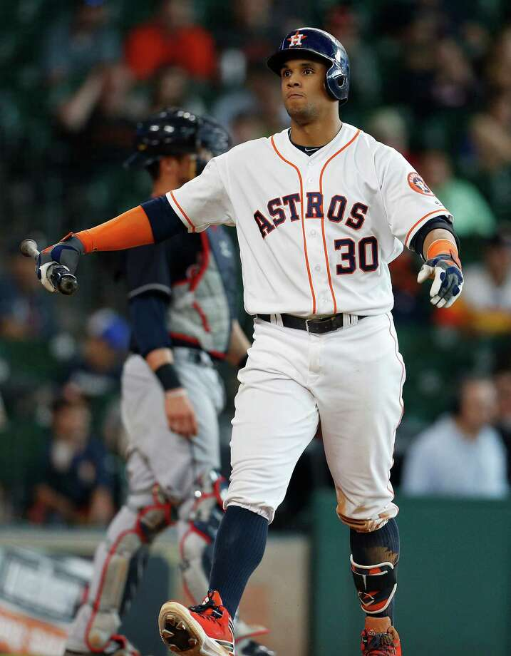 Among the 156 players with 130 or more plate appearances this season, Carlos Gomez ranks 155th in OPS. Photo: Karen Warren, Staff / © 2016 Houston Chronicle