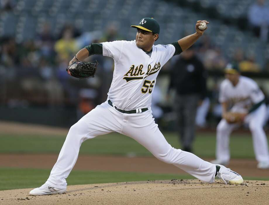 A's pitcher Sean Manaea allowed only one run in 6 2/3 innings on Monday night. Photo: Ben Margot, Associated Press