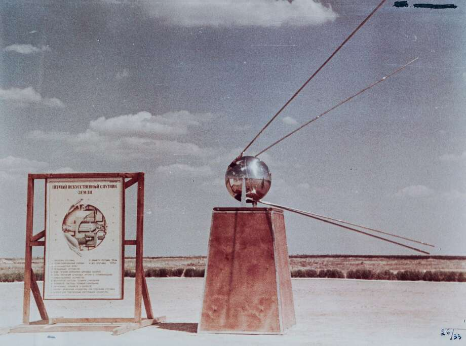 A Sputnik replica on displayed. To mark the 70th anniversary of the Soviet space program, Russia's Defense Ministry released these declassified photos. Via Russia Defense Ministry. Photo: Russia Defense Ministry