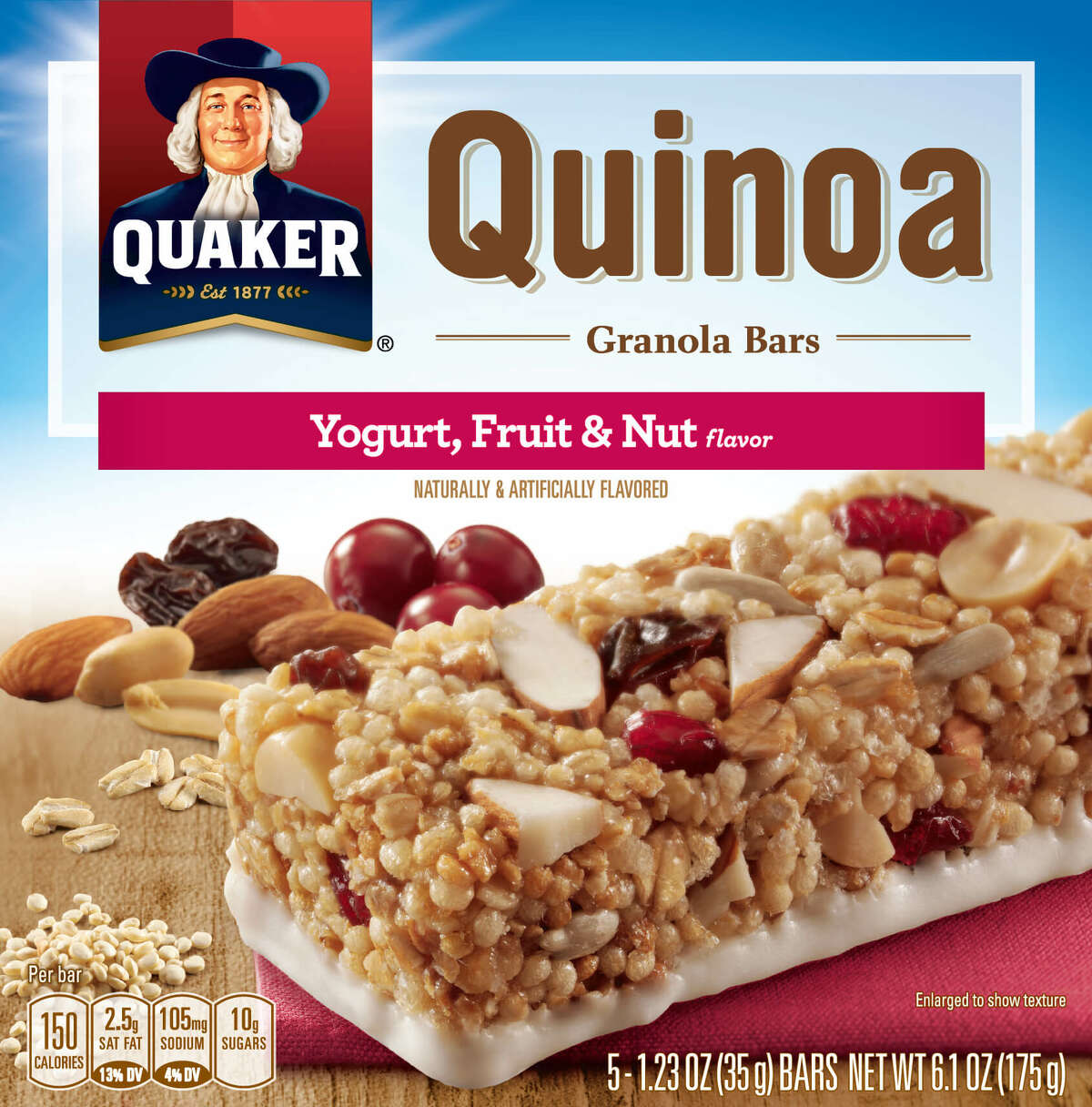 The Quaker Oats Company, a subsidiary of PepsiCo, Inc., has announced a voluntary recall of a small quantity of Quaker Quinoa Granola Bars after an ingredient supplier was found to have distributed sunflower kernels that may be contaminated with Listeria monocytogenes: 6.1 ounce boxes of Quaker Quinoa Granola Bars Chocolate Nut Medley with UPC code 30000 32241 and Best Before Dates of: 10/16/2016, 10/17/2016; 6.1 ounce boxes of Quaker Quinoa Granola Bars Yogurt, Fruit & Nut with UPC 30000 32243 and Best Before Dates of: 10/10/2016, 10/11/2016. Read more.