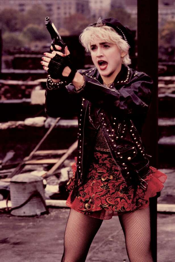 """American actress and singer Madonna stars in the film """"Who's That Girl?"""", 1987. Photo: Getty Images"""