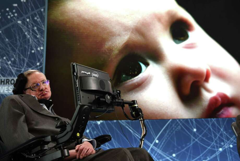 """Renowned cosmologist Stephen Hawking gets regular people to understand some of the largest questions of existence in the six-part """"Genius."""" Photo: TIMOTHY  A. CLARY, Stringer / AFP or licensors"""