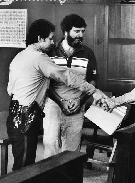 """Salvatore """"Bill"""" Bonanno leaves court in Oakland in 1981. Photo: Jerry Telfer, The Chronicle"""