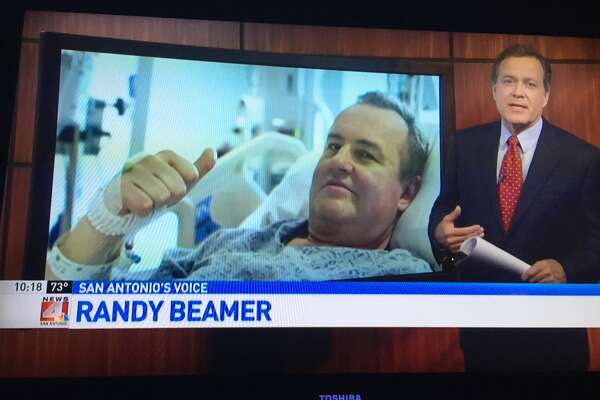 Veteran San Antonio anchorman Randy Beamer laughed on WOAI's  5 p.m. newscast while reading the story about Thomas Manning, the first man in the United States to get a penis transplant.