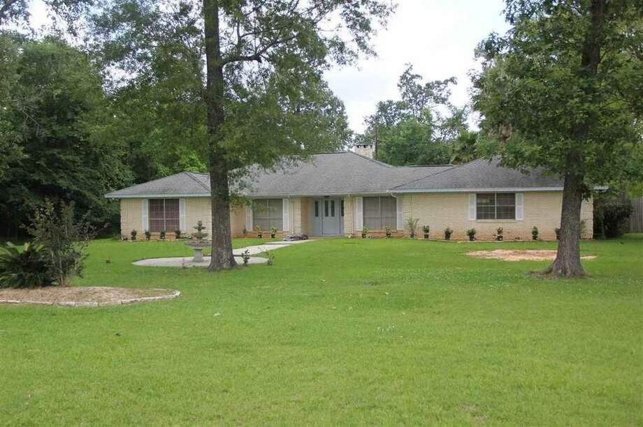 359 W. Pineshadows Dr., Sour Lake, Texas 77659.3 bedrooms; 2 full bathrooms. 2,362 sq. ft., 0.7 acres. Photo: Realtor.com