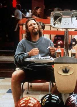 "In this 1998 publicity image released by Gramercy Pictures, Jeff Bridges appears in a scene from the motion picture ""The Big Lebowski,"" directed by brothers Ethan and Joel Coen. (AP Photo/Gramercy Pictures, file)"