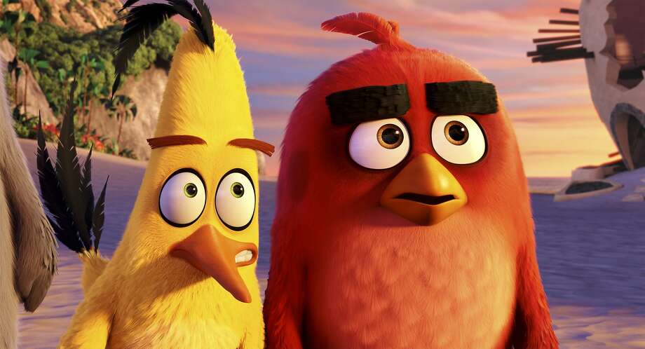 """Chuck (left), voiced by Josh Gad, and Red, voiced by Jason Sudeikis, in """"The Angry Birds Movie."""" Photo: Rovio Animation, Associated Press"""
