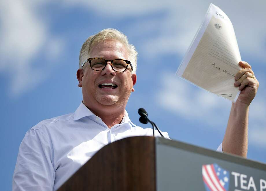 """In this Wednesday Sept. 9, 2015, file photo, radio host Glenn Beck speaks during a Tea Party rally against the Iran deal on the West Lawn of the Capitol in Washington. Beck and American Enterprise Institute president Arthur Brooks are some of the conservative leaders Facebook CEO Mark Zuckerberg plans to meet with on Wednesday, May 18, 2016, in light of a report that Facebook downplays conservative news subjects in its """"Trending Topics"""" feature. Facebook has denied the claims, but Zuckerberg said the company is investigating it nonetheless. Photo: Jacquelyn Martin, Associated Press"""