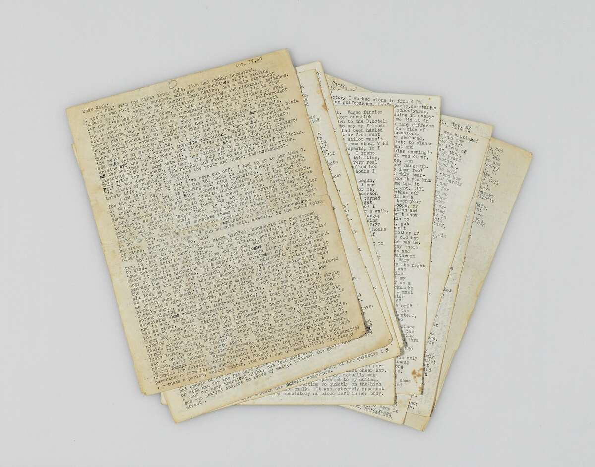 CASSADY, Neal (1926-1968). Typed letter completed in autograph and with autograph additions, corrections, and deletions in pencil and pen, to JACK KEROUAC (1922-1969), Denver, 17 December 1950. 18 pages, comprising nearly 16,000 words, some pale browning and minor marginal chipping. Estimate: $400,000-600,000