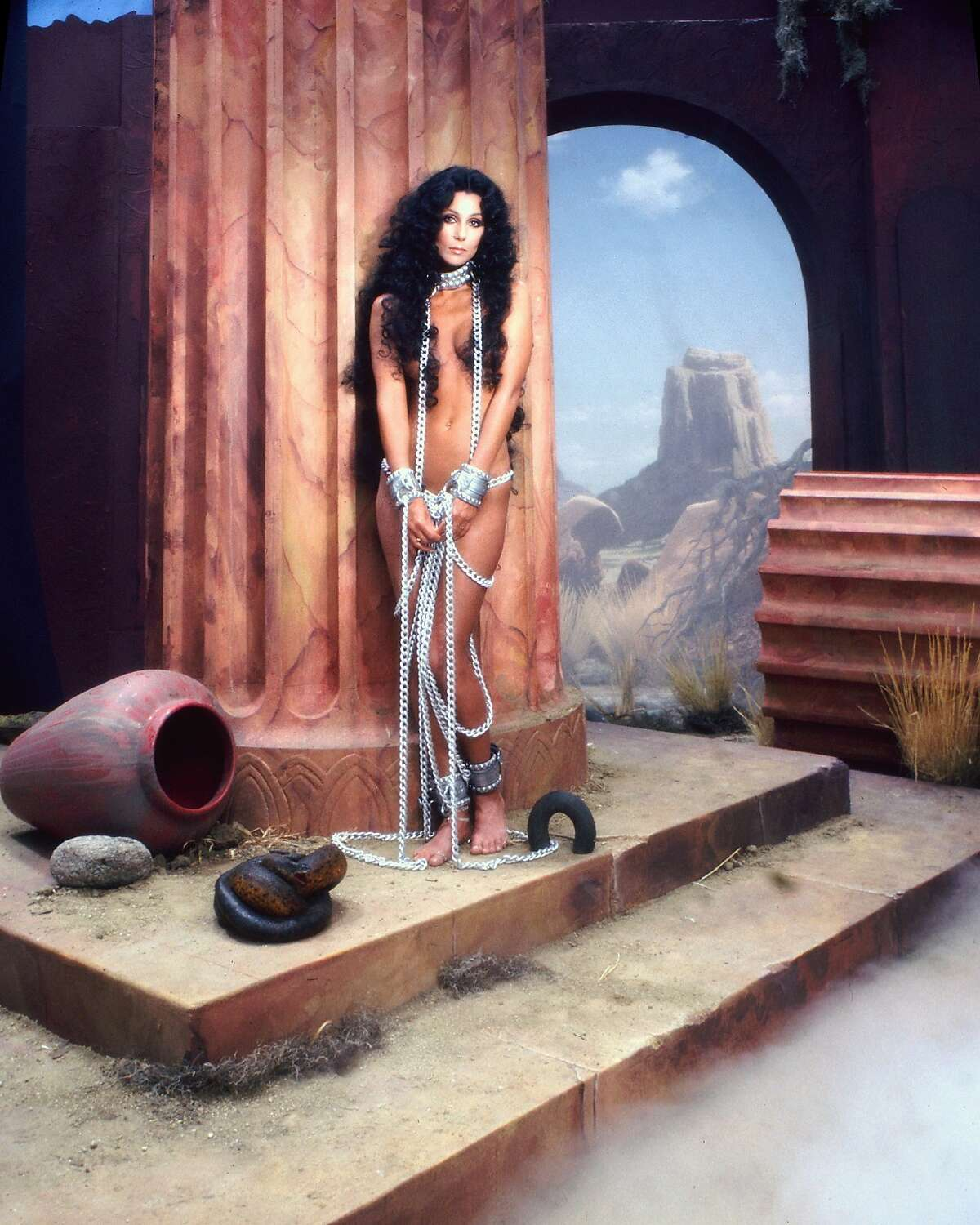 Cher poses for an album cover session for