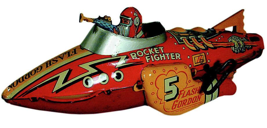 "A vintage ""Flah Gordon"" toy."""