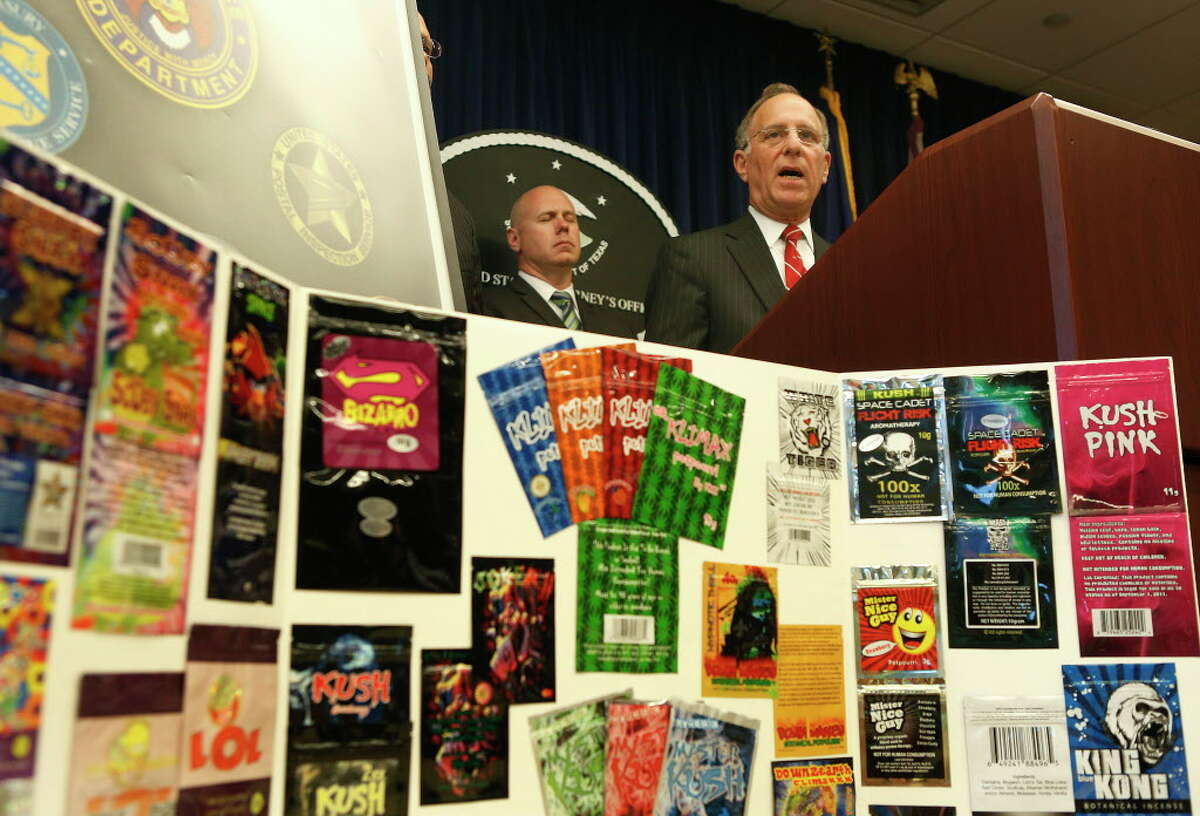 """United States Attorney Kenneth Magidson announced on Tuesday in Houston that 9.5 tons of synthetic cannabinoid, or """"kush,"""" were seized and 16 people charged in a four-year-long investigation."""