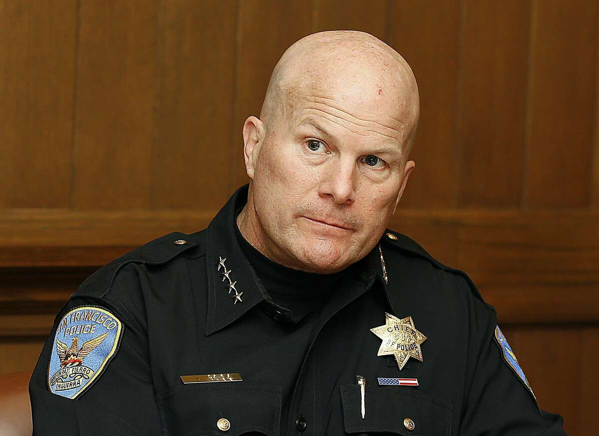 Chief Greg Suhr speaks to the Chronicle editorial board at the Chronicle in San Francisco, California, on tuesday, may 17, 2016.
